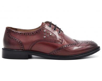Туфли на низком ходу на шнурках 9545-65 - фото